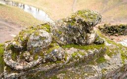 Zniszczona lew statua Zdjęcia Stock
