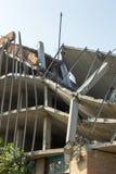 Zniszczona struktura, ?ama? pod?oga pionowo fotografia royalty free