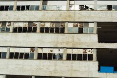 Zniszczone i zaniechane fabryki communistic era obraz royalty free