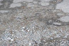 Zniszczony asfaltowy bruk obraz stock