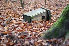 Zniszczony birdhouse obraz stock