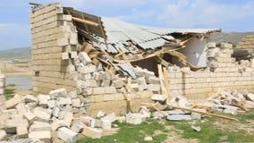Zniszczony budynek - gruz Rujnuję niszczył dom zbiory