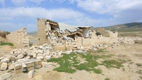 Zniszczony budynek - gruz Rujnuję niszczył dom zbiory wideo