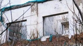 Zniszczony budynek, mieści w disrepair, rozbiórka dom zbiory wideo