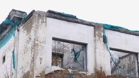 Zniszczony budynek, mieści w disrepair, rozbiórka dom zdjęcie wideo