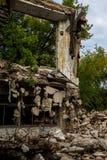 Zniszczony budynek, może używać jako rozbiórka, trzęsienie ziemi, bomba, terrorystyczny attac Fotografia Stock