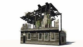 Zniszczony budynek - ruina Zdjęcia Stock