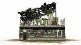 Zniszczony budynek - ruina Zdjęcie Stock