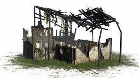 Zniszczony budynek - ruina Fotografia Stock