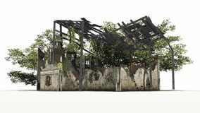Zniszczony budynek - ruina Obrazy Royalty Free