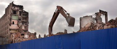 Zniszczony budynek obrazy royalty free
