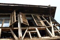 zniszczony dom fotografia stock