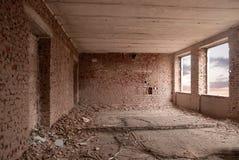 zniszczony stary pokój Obraz Royalty Free