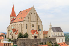 Znojmo, Czech Republic - Church of St. Nicholas and St. Wencesla Royalty Free Stock Photos