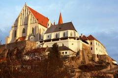 Znojmo, Czech Republic - evening sunshine on church Stock Photos