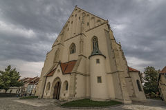 Znojmo town in dark cloud summer day Royalty Free Stock Photo