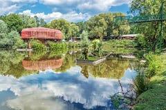 Zoölogische tuin in Bojna, Slowakije Royalty-vrije Stock Afbeelding
