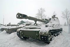 Zo-152 gemotoriseerde artillerie Akatsiya Stock Fotografie