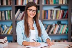Zo gelukkig een student te zijn! Royalty-vrije Stock Foto's