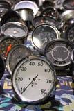 Zo vele snelheidsmeters stock fotografie