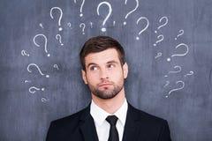 Zo Vele Vragen! Stock Foto