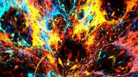 Zo zou het een vulkaanuitbarsting op een hete ster kunnen kijken Hoog Gedetailleerd stock videobeelden
