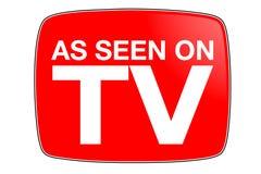 Zoals Gezien op TV Stock Afbeeldingen