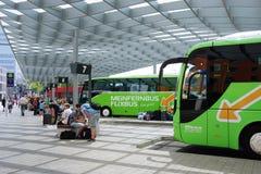 ZOB Hannover é uma estação de ônibus central para Imagem de Stock