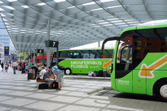 ZOB Hannover is a central bus station for Stock Image