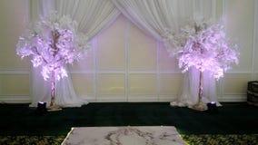 Zobowiązania i przyjęcie weselne sala dekoraci obrazek dla każdy wyobrażalnego miejsca wydarzenia obraz stock