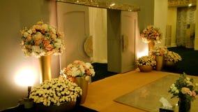 Zobowiązania i przyjęcie weselne sala dekoraci obrazek dla każdy wyobrażalnego miejsca wydarzenia zdjęcia stock