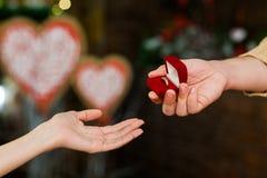 Zobowiązanie na valentine ` s dniu fotografia stock