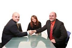 zobowiązanie uścisk dłoni Fotografia Stock