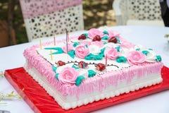 Zobowiązanie tort Fotografia Stock