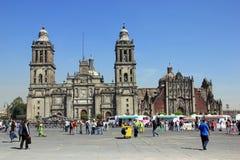 Zocalo,墨西哥城 库存图片
