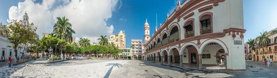 Zocalo или Площадь de Armas, главная площадь Веракрус, Мексики Стоковая Фотография