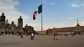 Zocalo de centre de Mexico banque de vidéos