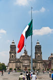 The Zocalo flag, Mexico Stock Photo