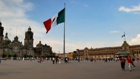 Zocalo main square of Mexico City stock footage