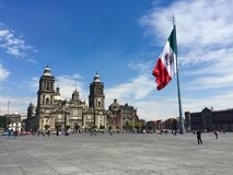 Zocalo. Plaza of Constitution in Mexico City Royalty Free Stock Photos