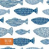 Zoccolo decorativo dei pesci dell'acquerello Immagine Stock Libera da Diritti