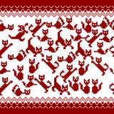 Zoccolo di Pixeled con i gatti Fotografie Stock