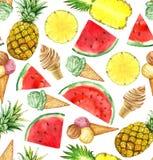 Zoccolo senza cuciture dell'alimento di estate Fotografie Stock Libere da Diritti