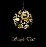 złoci balowi boże narodzenia Zdjęcia Royalty Free