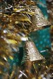 złociści dzwonów boże narodzenia Fotografia Royalty Free
