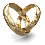 Złociści pierścionki (ścinek ścieżka zawierać) Zdjęcie Stock