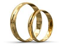 Złociści pierścionki (ścinek ścieżka zawierać) Fotografia Stock