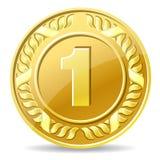 Złocista moneta Zdjęcia Royalty Free