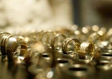 Złocisty biżuteria sklep Fotografia Royalty Free