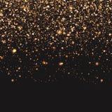 Złocisty confetti tła ideał dla bożych narodzeń Fotografia Stock